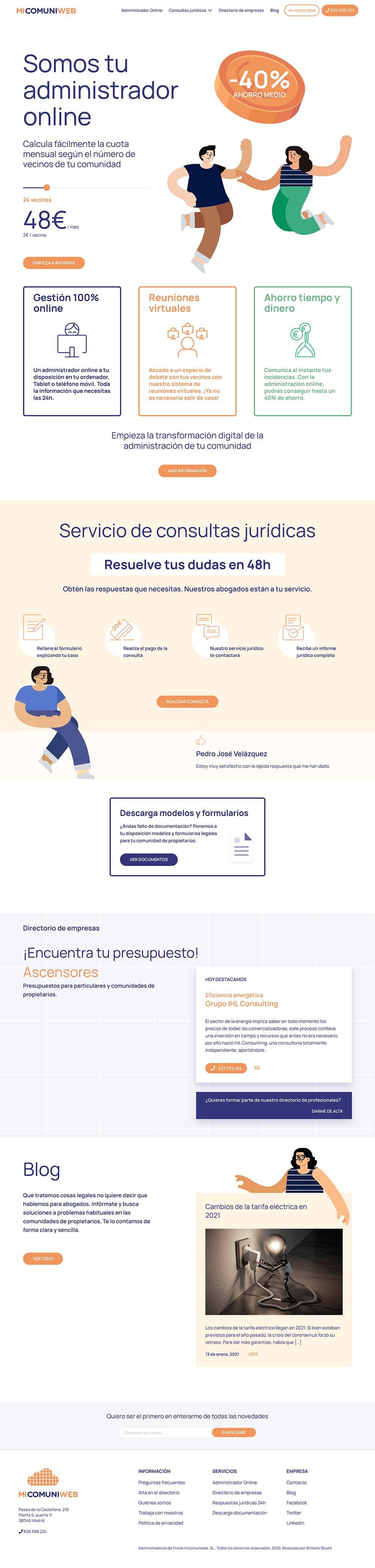 Captura  Diseño web Barcelona