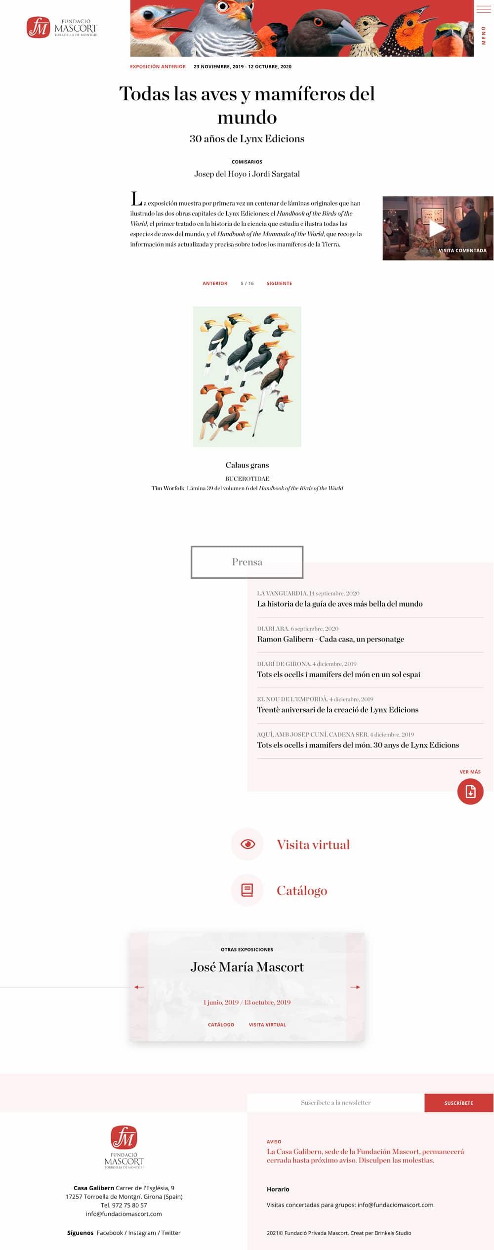 Captura  Diseñamos páginas web para museos
